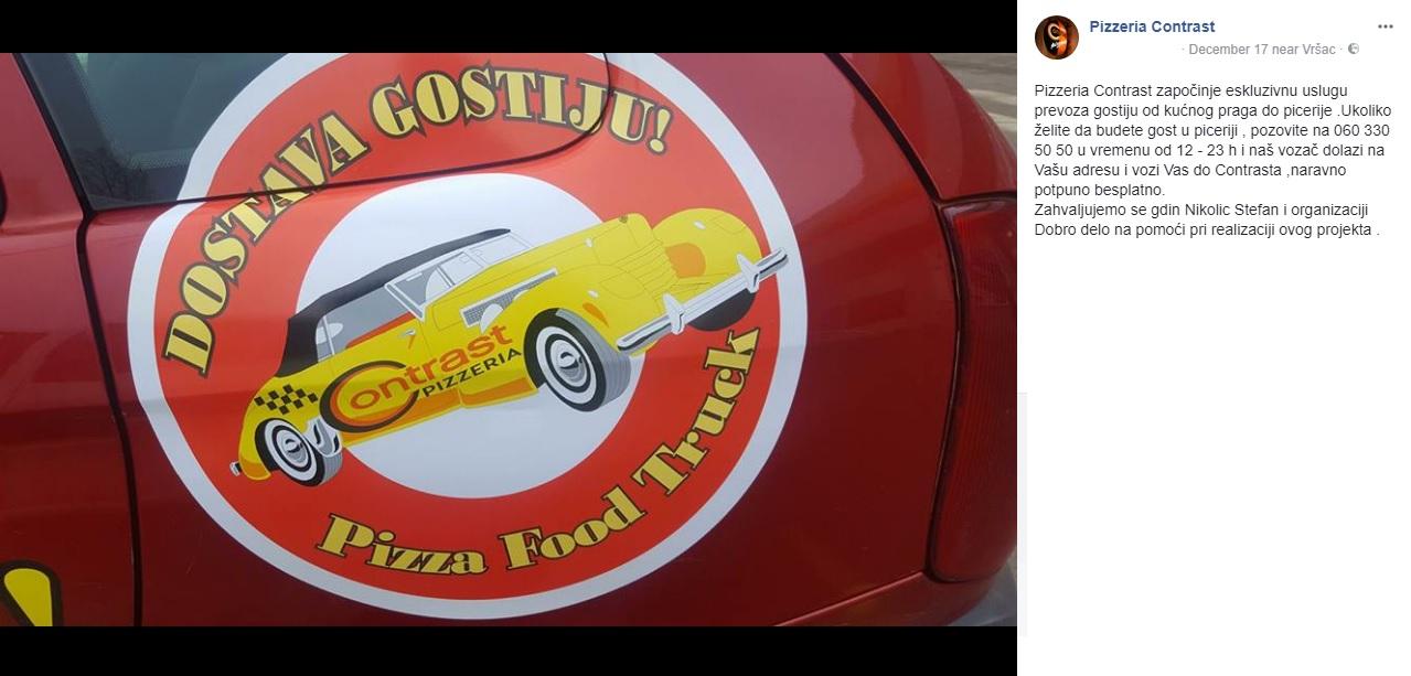 Contrast taxi - Pizzeria Contrast